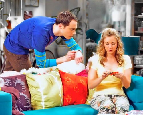 The Big Bang Theory wallpaper entitled Penny and Sheldon