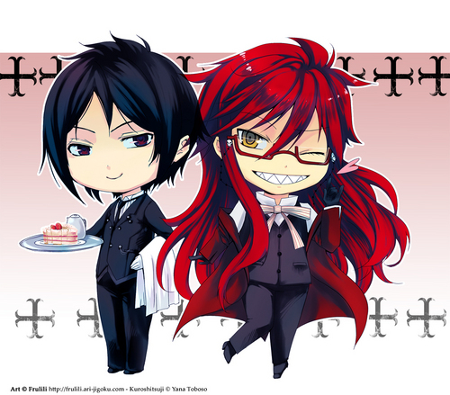 Sebastian and Grell chibi