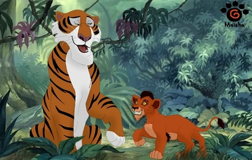 Shere Khan and young Scar