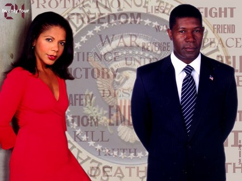 24 wallpaper with a business suit, a suit, and a well dressed person called Sherry & David Palmer