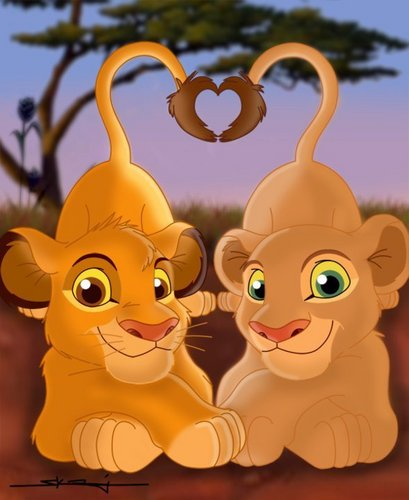 Simba&Nala - the-lion-king Fan Art
