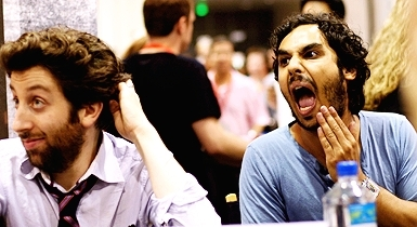 Simon Helberg and Kunal Nayyar