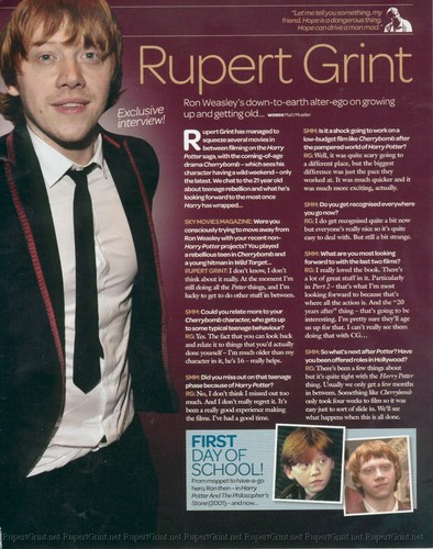 Sky Фильмы Magazine Interviews Emma Watson, Dan Radcliffe, and Rupert Grint