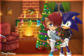 SonxSal-Christmas Eve - sonic-sally%3D-3 fan art