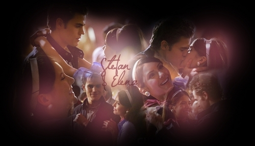 Stefan & Elena wallpaper possibly with a show, concerto entitled Stefan & Elena (Unpleasantville)