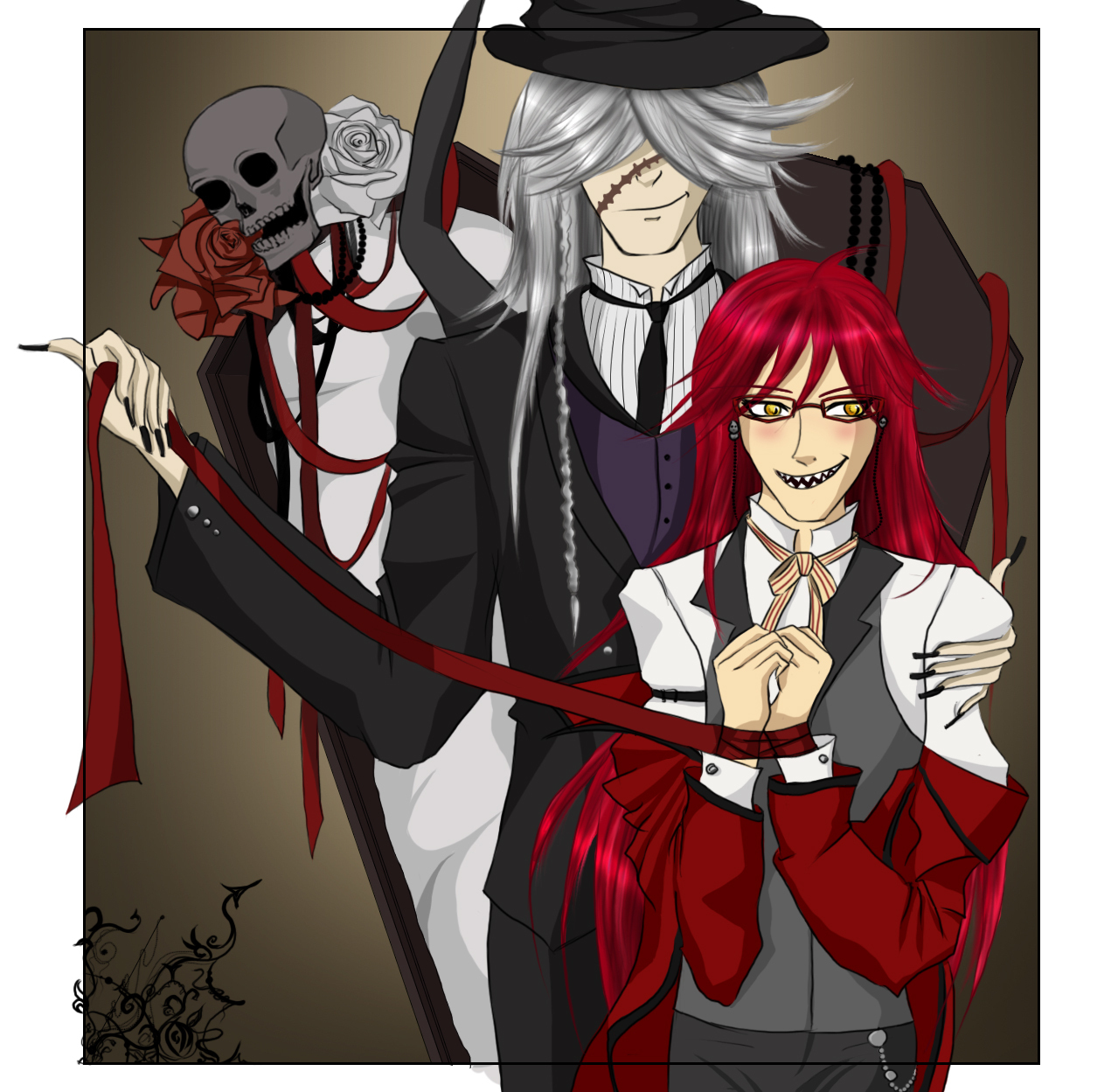 kuroshitsuji images the undertaker and grell hd wallpaper