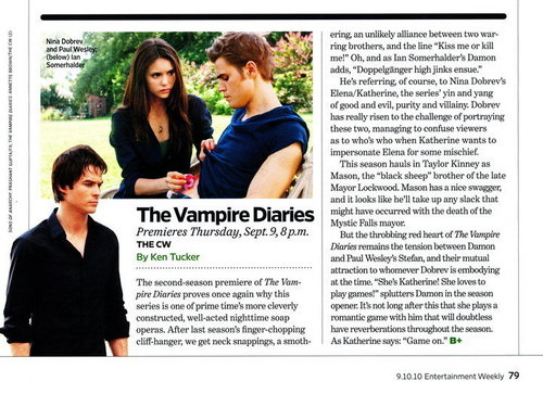 The Vampire Diaries in Entertainment Weekly