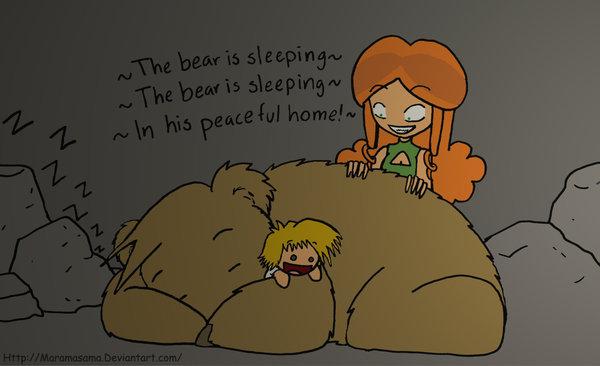 When the bear is sleeping