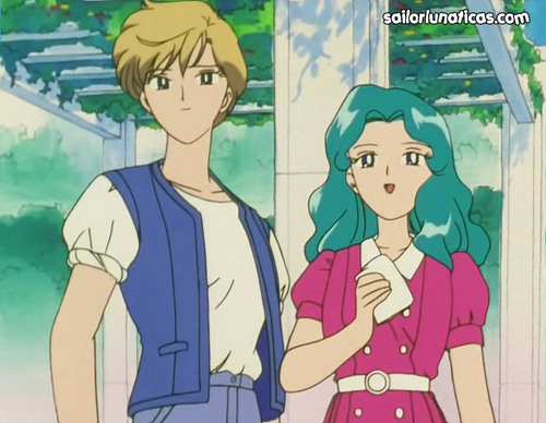 Sailor Uranus and Sailor Neptune karatasi la kupamba ukuta with anime called michiruharuka