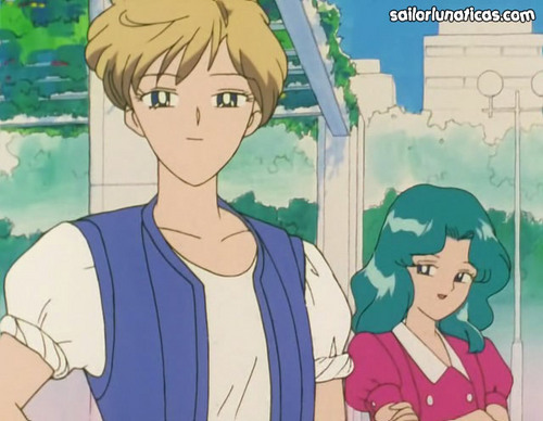 Sailor Uranus and Sailor Neptune karatasi la kupamba ukuta containing anime titled michiruharuka