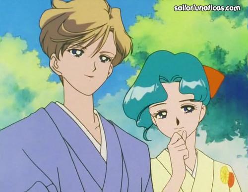 Sailor Uranus and Sailor Neptune karatasi la kupamba ukuta with anime called michiruharuka