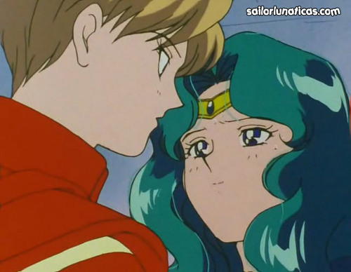 Sailor Uranus and Sailor Neptune karatasi la kupamba ukuta containing anime entitled michiruharuka