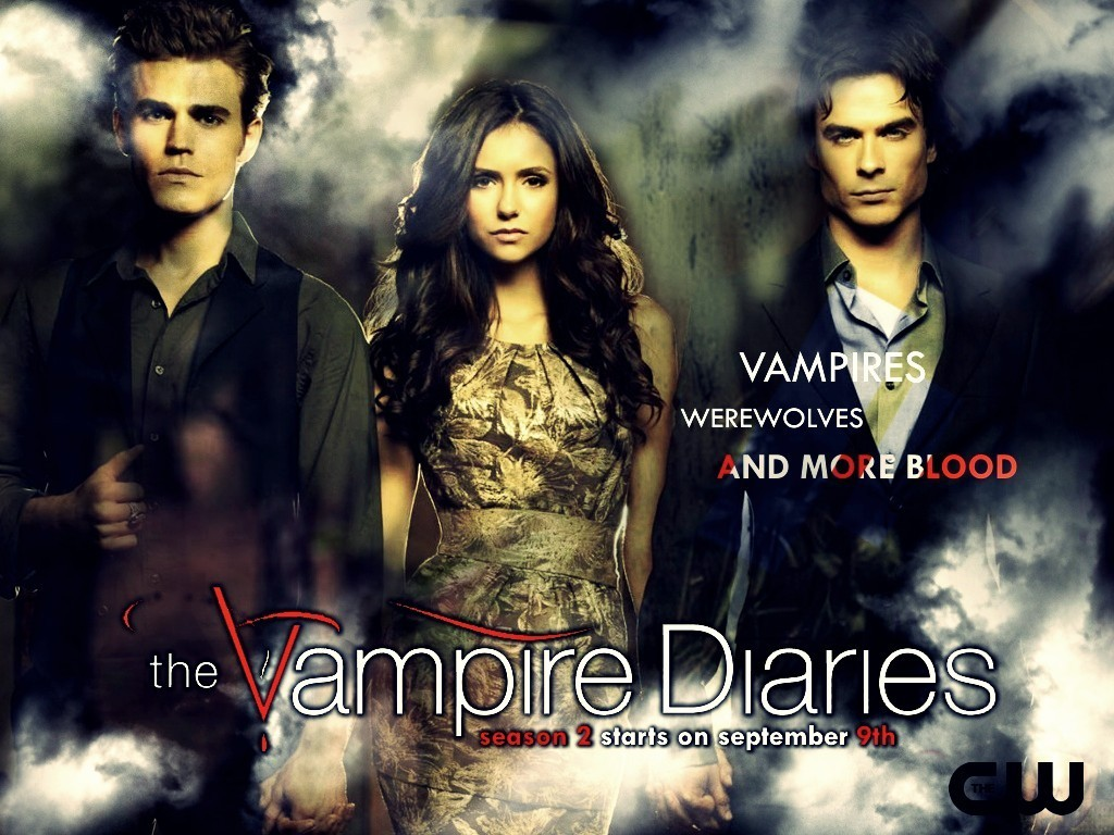 The Vampire Diaries season 2 promo wallpaper