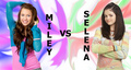 selena and  miley. - miley-cyrus-vs-selena-gomez photo