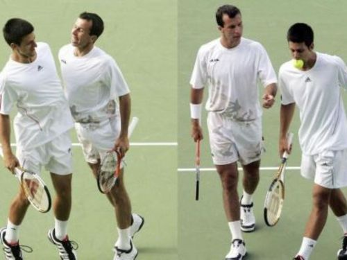 stepanek djokovic eat ball