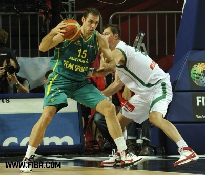 Basketball wallpaper containing a dribbler and a basketball player titled 15. Aleks MARIC (Australia)