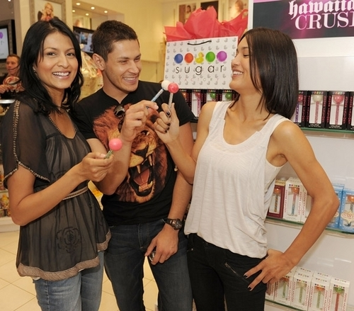 Alex, Julia and Tinsel @ Sugar Factory in Las Vegas