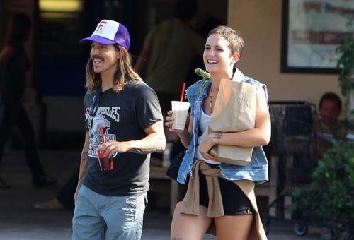 Anthony Kiedis and Heather
