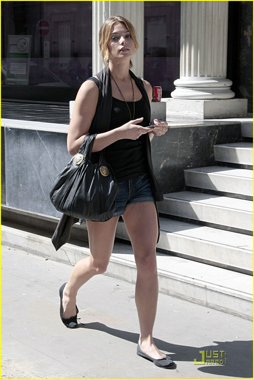 Ashley out in Paris
