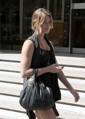 Ashley out in Paris