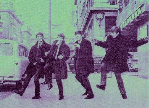 Beatles dancing (: