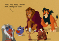 Beauty and the Beast as Lion King characters