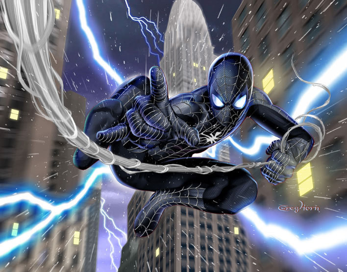 Black Suit Spider-Man | NY's Very Own | Pinterest