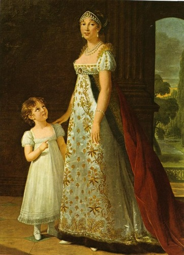 Kings and Queens wallpaper probably with a polonaise and a kirtle entitled Caroline Bonaparte, Queen of Naples