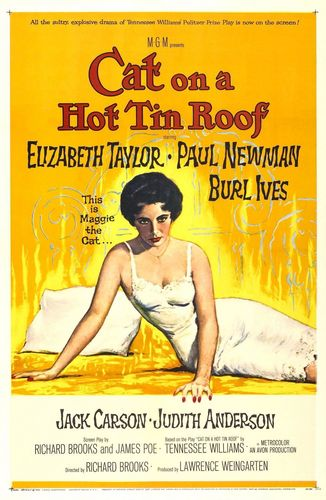 Cat on a Hot Tin Roof - Promotional Poster
