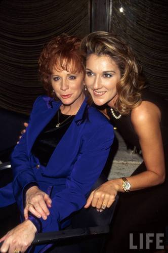 Celine Dion achtergrond containing a well dressed person titled Celine Dion & Reba McEntire