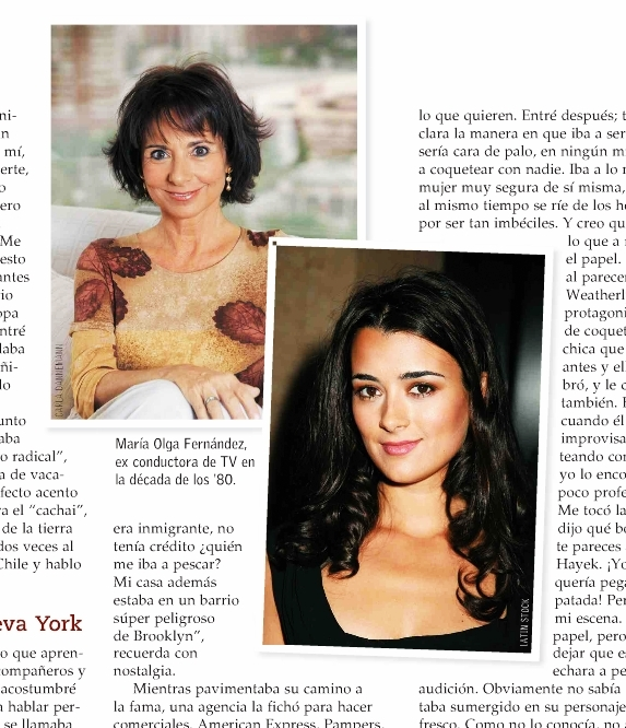 Cote and her mother Maria