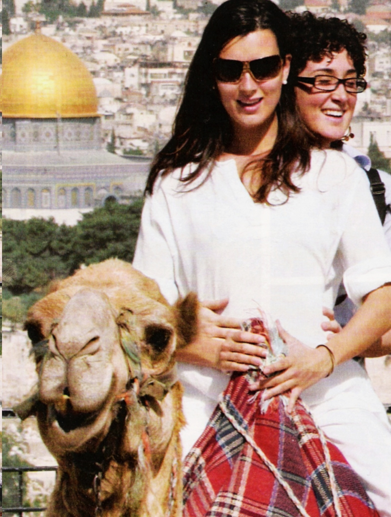 Cote with sister Andrea in Israel