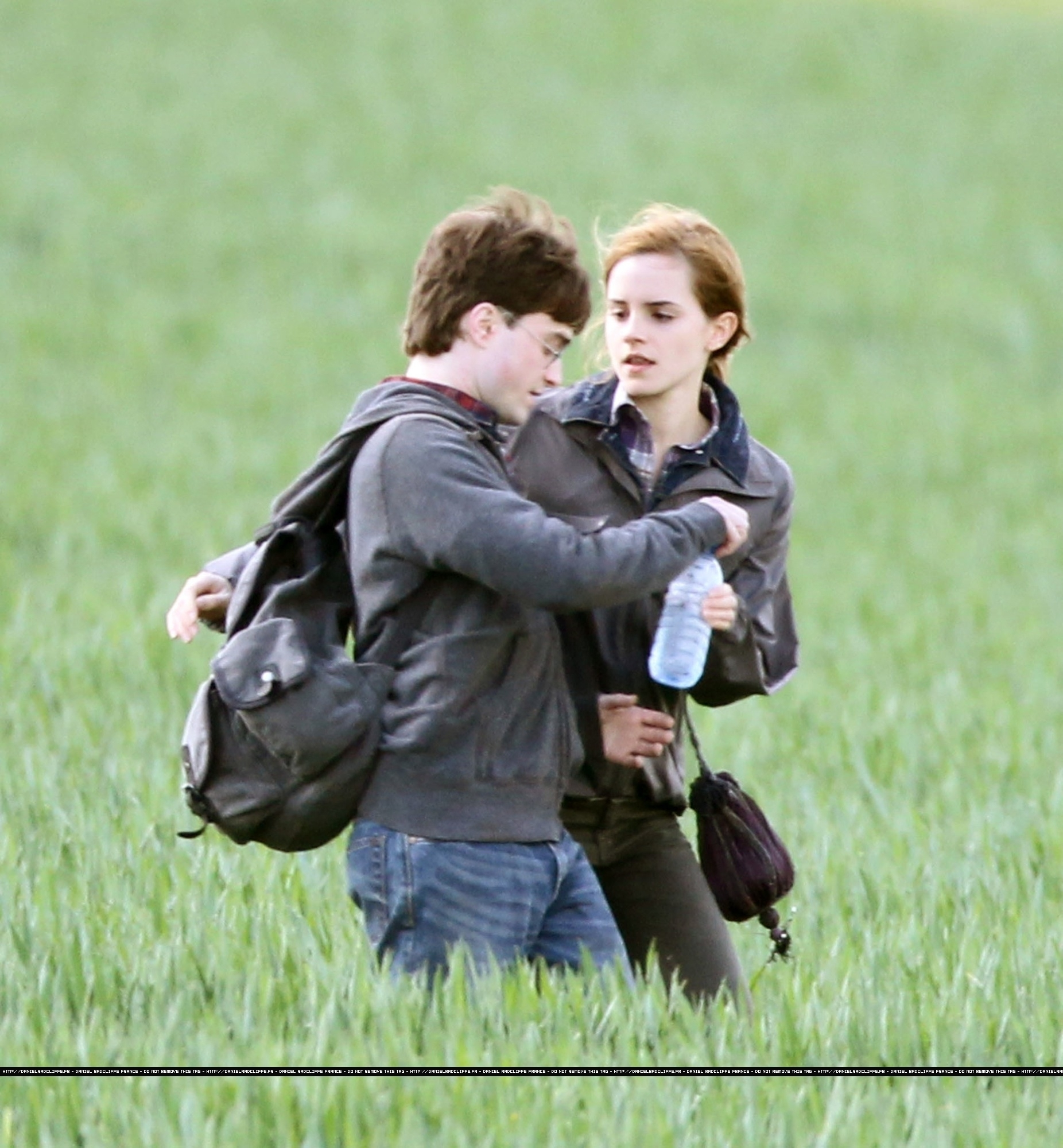 Harry Potter and the Deathly Hallows Movies images Daniel and Emma behind the scenes HD wallpaper and background photos