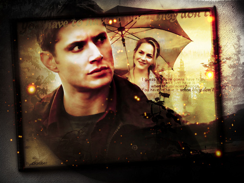 Supernatural wallpaper possibly with a sign, a stained glass window, and anime entitled Dean