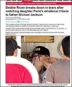 Debbie Rowe cry .. Paris Jackson
