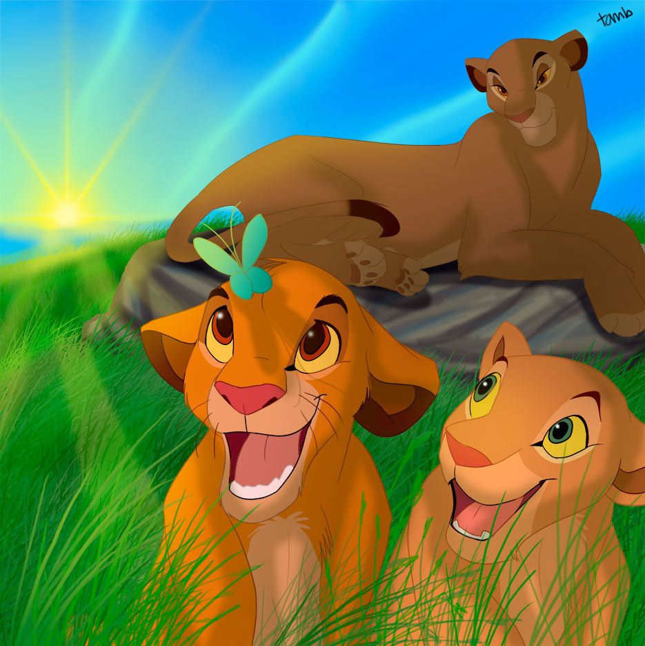 Simba and butterfly