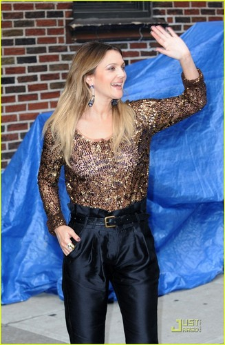 Drew Barrymore @ David Letterman Studio