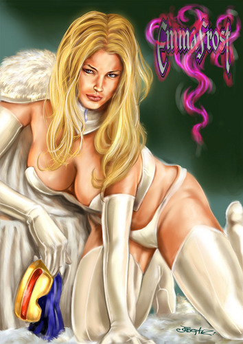 funkyrach01 wallpaper containing a portrait entitled Emma Frost