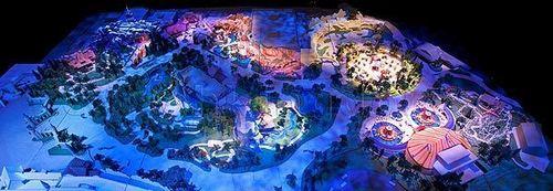 Walt Disney World wallpaper called Fantasyland Expansion, Original Model and Plans