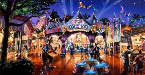 Fantasyland Expansion, Original Model and Plans