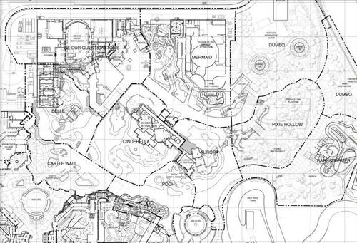 Fantasyland Expansion, Original Model and Plans