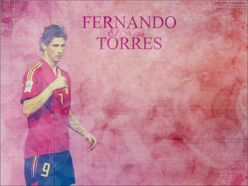 Fernando Torres achtergrond probably with a sign and anime titled Fer Torres