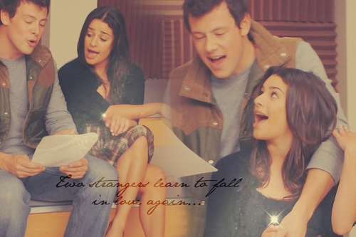 Finn & Rachel fondo de pantalla probably with a bridesmaid, a well dressed person, and a portrait entitled Finchel