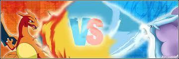 fuego vs Water-Charizard vs Suicune