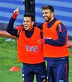 Geri and Cescy have laugh - gerard-and-cesc photo