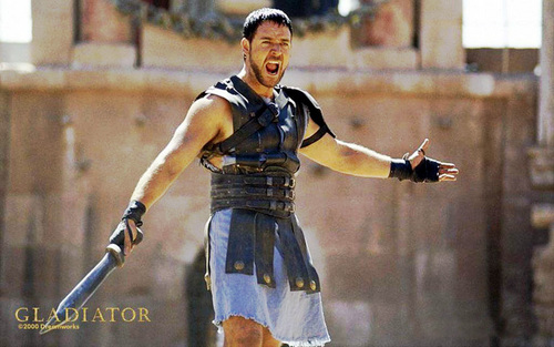 sinema karatasi la kupamba ukuta probably with a hip boot titled Gladiator