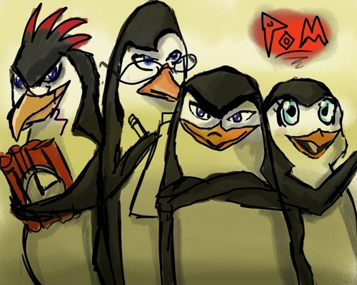 Penguins of Madagascar پیپر وال titled If PoM was an Anime....