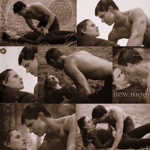 Jacob and Bella wallpaper with a bather, a guillotine, and a hot tub titled Jacob and Bella