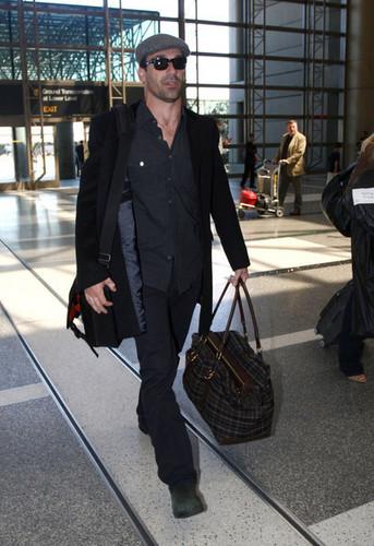 Jon Hamm at Los Angleles Airport