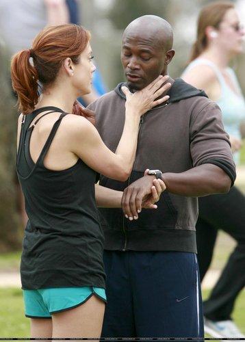 "Kate/Taye (Sam/Addie) Filming ""Private Practice"" - August 16"